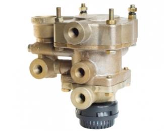 Клапан управления тормозами прицепа с двухпроводным приводом, клапаном обрыва и глушителем