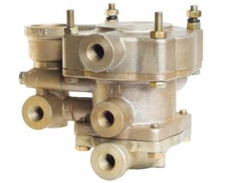 Клапан управления тормозами прицепа с двухпроводным приводом и клапаном обрыва